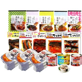 【非常食・防災食・常備食】煮魚ごはんさば缶(16Pセット)
