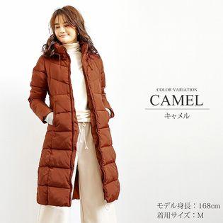 【キャメル XL】中綿ロングコート【vl-5314】