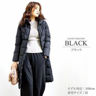 【ブラック M】中綿ロングコート 【vl-5314】