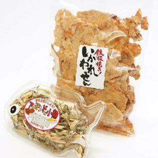 鉄板焼き イカせんべい (160gx1) アーモンド小魚 (75gx1) おやつ おつまみ セット