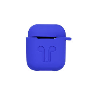 《ブルー》AirPods エアポッツ 1st gen対応 シリコン ケース カバー