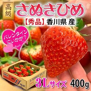 【約400g】香川県産 さぬきひめ(いちご)  3Lサイズ