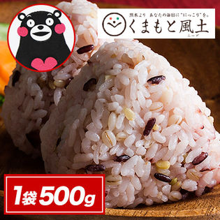 【1袋500g】二十一雑穀米 くまモン袋 国産 もち麦 熊本県産発芽玄米 入り