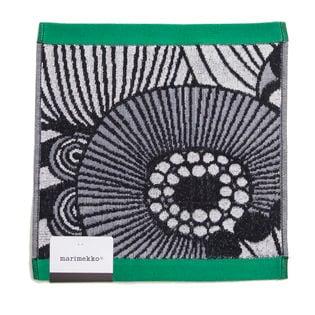 ブラック[marimekko]ハンカチ SIIRTOLAPUUTARHA MINI TOWEL