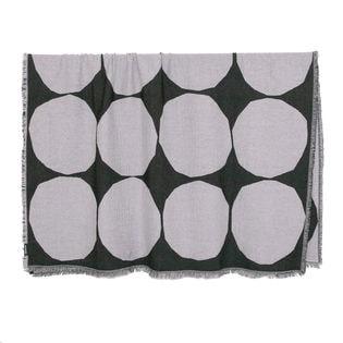 ブラック[marimekko]ブランケット KIVET BLANKET