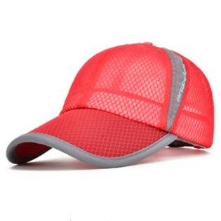 【レッド】スポーツ キャップ メンズ メッシュキャップ レディース 帽子