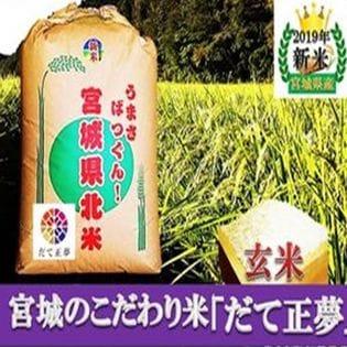 30kg【令和元年産】伊達正夢玄米
