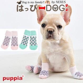 【グリーン/L】犬靴 靴 靴下 滑り止め ヒョウ柄