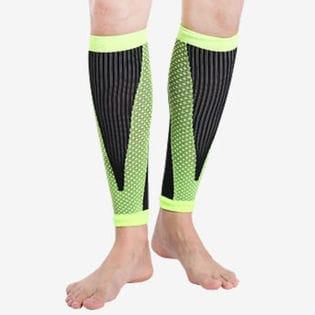 【グリーン・M】ふくらはぎ サポーター 2枚セット 両足セット 着圧 加圧 疲れ 疲労軽減 ケガ防止