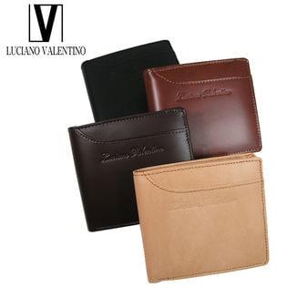 【ダークブラウン】ルチアーノバレンチノ 2つ折財布 LUV-7004