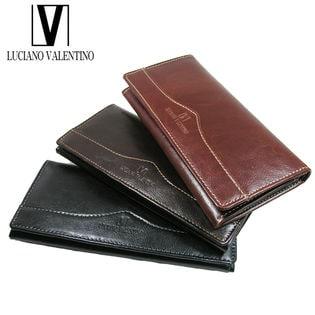 【Lブラウン】ルチアーノバレンチノ 牛革 長財布  LUV-6001
