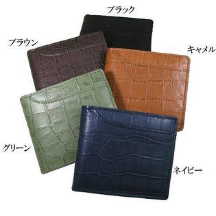 【ブラック】ルチアーノバレンチノ 牛革 折財布 luv-4004