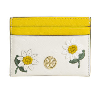 [TORY BURCH]パスケース アイボリー ROBINSON EMBROIDERED CASE