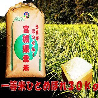 <令和元年度>【30kg】宮城県産ひとめぼれ玄米