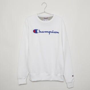 Sサイズ [Champion] メンズ トレーナー ホワイト POWERBLEND GRAPHIC