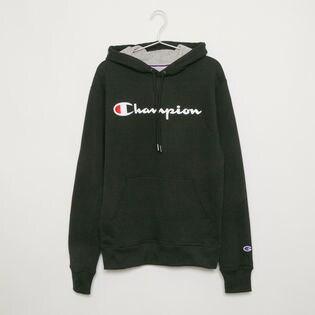 Sサイズ [Champion] メンズ パーカー ブラック POWERBLEND GRAPHIC