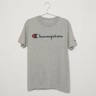 Sサイズ [Champion] メンズ Tシャツ グレー CLASSIC JERSEY TEE