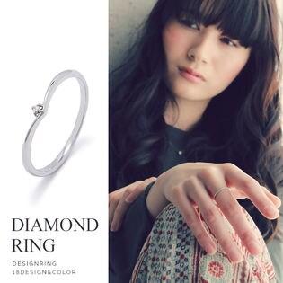 【Vシェイプ】一粒ダイヤモンドリング ハイブランドクオリティの華奢で繊細なリング!