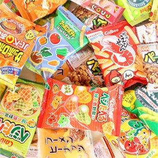 【5種・16コ】食べきりサイズのカルビーミニスナック &【3種・計12コ】ヤスイの駄菓子