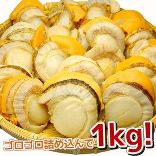 【約1kg(16-20玉入)】北海道産ボイルほたて2Lサイズ [[ボイルホタテ1kg]