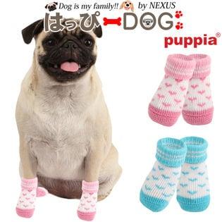 【ピンク/L】犬靴 靴 靴下 滑り止め ハート柄