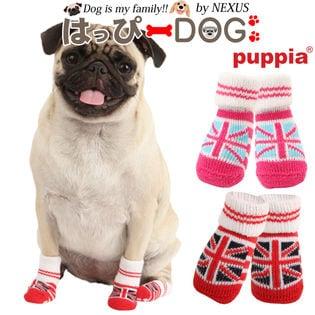 【ピンク/S】犬靴 靴 靴下 滑り止め ユニオンジャック