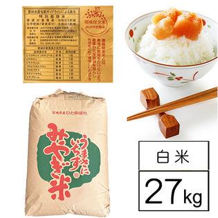 【約27kgx1袋】 特別栽培米 令和元年産 宮城県産ひとめぼれ JAみやぎ登米 1等白米