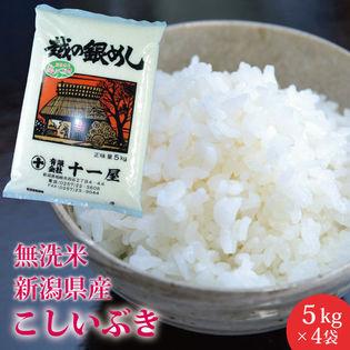 【計20kg(5kg×4)】無洗米 新潟県産 こしいぶき≪令和3年産新米≫