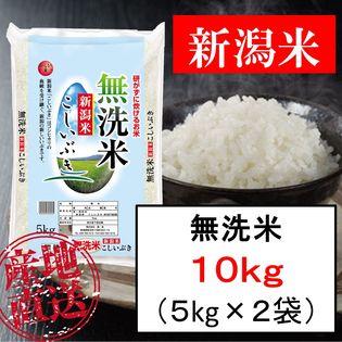 【10kg(5kg×2袋)】無洗米 新潟産こしいぶき 令和元年産