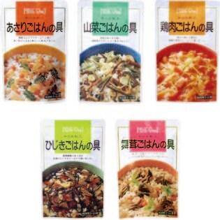 【5袋セット】炊き込みご飯の具 3合用(山菜/ひじき/鶏肉/あさり/舞茸)