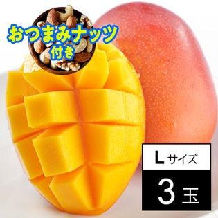 【予約】6/16より順次出荷【父の日おつまみナッツ付】宮崎産完熟マンゴー3玉ギフト 箱