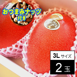 【予約】6/16より順次出荷【父の日おつまみナッツ付】宮崎産 完熟マンゴー 太陽のタマゴ(3L2玉)