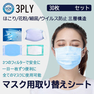 【30枚セット×2箱 】マスクフィルター マスク取替えシート 60枚