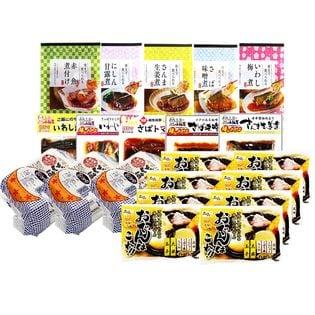 【非常食・防災食・常備食】おでん/煮魚/ごはん(21Pセット)