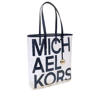 [MICHAEL KORS]クリアバッグ THE MICHAEL BAG LG NS(ネイビー)