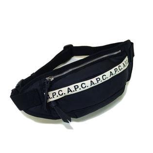 [A.P.C.]ボディバッグ ブラック BANANE REPEAT BELT BAG