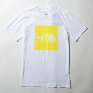 【Sサイズ/ホワイト×イエロー】[THE NORTH FACE]M S/S NEW BOX TEE