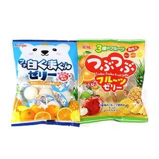 【1コ】プチ白くまくんゼリー練乳風味 &【1コ】つぶつぶフルーツゼリー