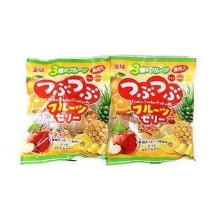 【2コ入り】金城製菓 つぶつぶフルーツゼリー