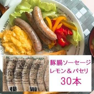 【計2.25kg】豚腸ソーセージ(レモン&パセリ/保存料無添加)