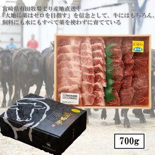 お中元・お歳暮・ギフト・贈答用 【700g】牧場直送!! 九州産黒毛和牛 焼肉セット