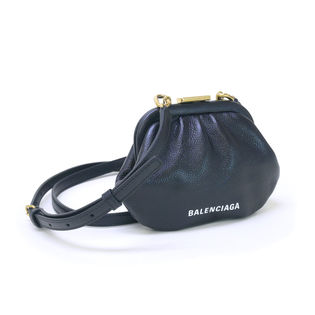 [BALENCIAGA]ポーチ ブラック CLOUD COIN  SHOULDER STRAP