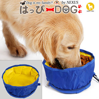 【グリーン/ワンサイズ】ペット 食器 水入れ 犬 フードボウル ペットボウル 折りたたみ