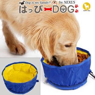 【グレー/ワンサイズ】ペット 食器 水入れ 犬 フードボウル ペットボウル 折りたたみ