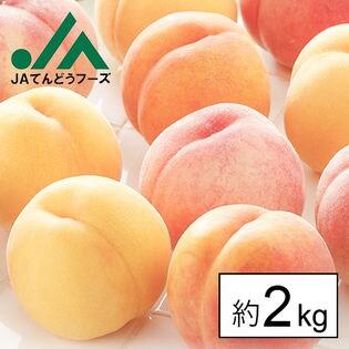 【予約受付】8/20~出順次出荷【約2kg】山形県産黄桃(品種・玉数おまかせ)※変形や色むらあり