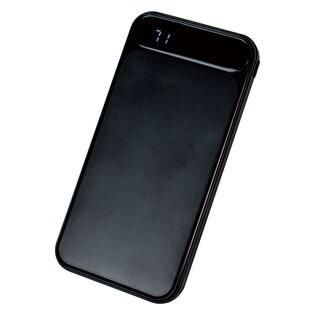 【ブラック】 モバイルバッテリー 2ポート 10000mAh 大容量 薄型