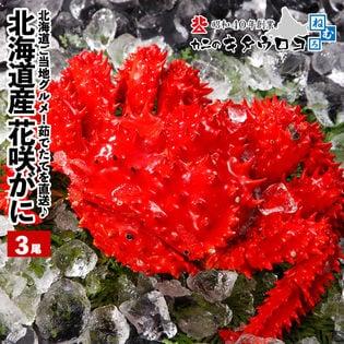 【予約受付】7/15~順次出荷【350-500g前後×3尾入】浜茹で花咲がに 未冷凍