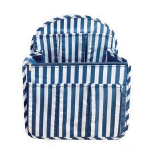【ネイビーストライプ】バッグッグインバッグ リュック リュックインバッグ タテ型 軽量