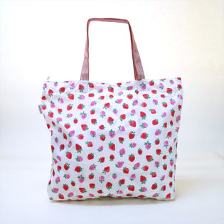 [CathKidston]トートバッグ ライトピンク LARGE FOLDAWAY TOTE