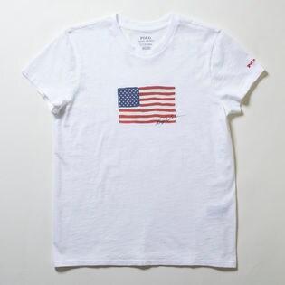 Sサイズ【RalphLauren】Tシャツ NAVY FLAG S/S T-SHIRT ホワイト